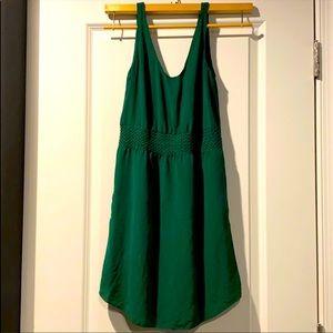 Aritzia Babaton Green Silk Dress XS